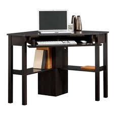sauder beginnings collection 46 in corner computer desk in cinnamon black computer desks