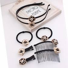 <b>Korea Hair Accessories</b> Custom Made Retro Camellia Flower ...