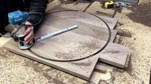 DIY walnut <b>wall clock</b> - YouTube