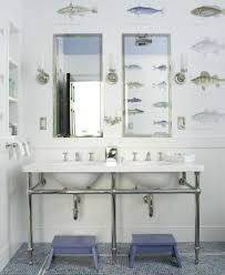 blue tile backsplash mirror kids bathroom wallpaper for boys bathroom view full size
