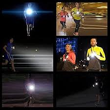 Running Light Lamp, USB <b>Rechargeable LED</b> Body Torch, Bright ...