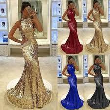Women Sleeveless O Neck Sequin Party Prom Dress Shinny ... - Vova