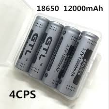 4PCS <b>100</b>% <b>New Original</b> NCR18650B 3.7 v 12000 mah 18650 ...