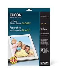 <b>Epson</b> Premium <b>Photo Paper Glossy</b> (8x10 Inches, 20 Sheets ...