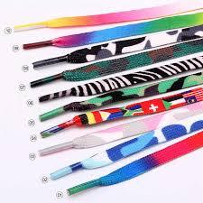 Низкая цена, 1 штука, радужные разноцветные <b>шнурки</b>, плоская ...