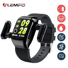 LEMFO <b>S300</b> Smart Watch Men Earbuds With <b>Bluetooth Earphones</b> ...