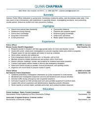 resume for skills financial analyst resume sample resumes are you a police officer looking for a new job one of the best preparations