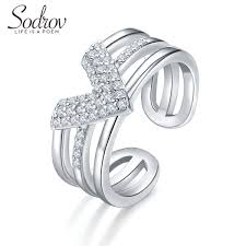2019 <b>SODROV 925 Sterling Silver</b> Ring Party Size Adjusted Ring ...