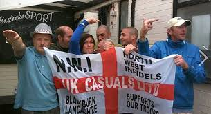 Image result for edl nazi salute