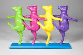 "<b>Статуэтка</b> ""Танцующие коровы"" (<b>Dancing</b> Cows), стиль: поп-арт ..."