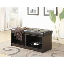 storage bench for living room: convenience concepts designscomfort broadmoor entryway faux leather bench storage ottoman multiple colors walmartcom
