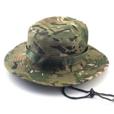 camouflage bucket hat outdoor camping army sun jungle military tactical cap breathable camo fisherman brand