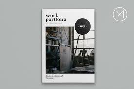 work portfolio brochure templates on creative market