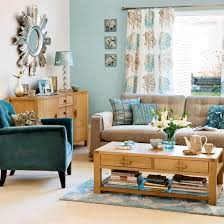 blue brown living rooms