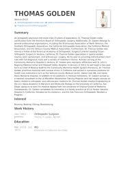 orthopedic surgeon resume samples   visualcv resume samples databaseorthopedic surgeon resume samples