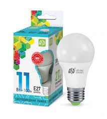 <b>Лампа</b> сд <b>LED</b>-<b>A60</b>-std 11Вт 230В Е27 4000К 990Лм <b>ASD</b>