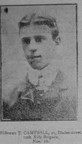 T CAMPBELL. THOMAS CAMPBELL. Rifleman S/3399 10th Bn., Rifle Brigadewho died on Tuesday, 16/11/1915 . Age 30 . - 440de6e1