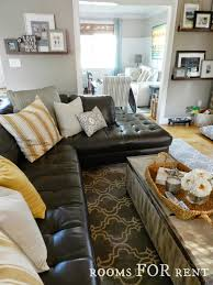 Models Brown Leather Couches Decorating Ideas To Style A Dark Sofa Den Makeover With Inspiration