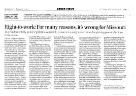 articles hammond and shinners law firm right to work for many reasons it s wrong for missouri