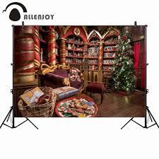 <b>Allenjoy photography background Christmas</b> shop tree bookshelf ...