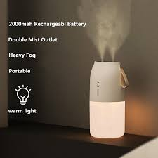 2 Nozzles Wireless Air <b>Humidifier</b> Portbale <b>Aroma Diffuser</b> 2000mAh ...