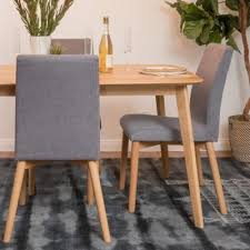 Noble House Orrin Dark Grey and <b>Oak Dining Chairs</b> (Set of 2), Gray ...