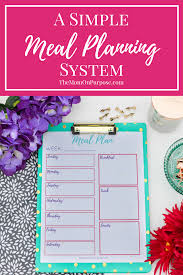 a simplified meal planning system printables the is meal planning overwhelming you let s simplify things this super simple meal planning system