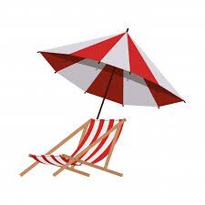 <b>Пляжный зонт</b> на лето в полоску | Бесплатно векторы