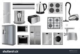 Of Kitchen Appliances Home Appliances Set Household Kitchen Technics Stock Vector
