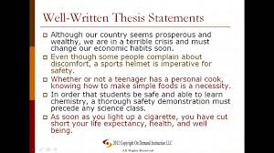 making a thesis statement for an essay Home   FC