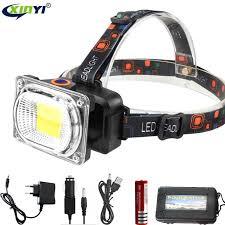 10000LM Powerful <b>COB LED Headlight</b> DC Rechargeable ...