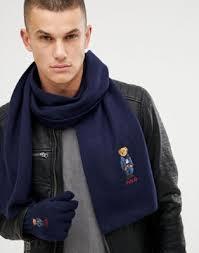 Подарочный набор из шерстяных перчаток и <b>шарфа</b> темно ...