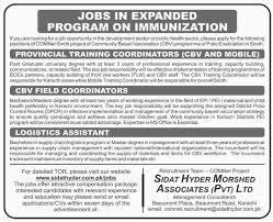 jobs in sidat hyder morshed associates pvt limited karachi
