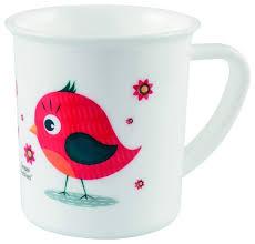 <b>Чашка</b> пластиковая <b>Canpol</b> Птичка 12+ мес, 170 мл, 4/413 Красный