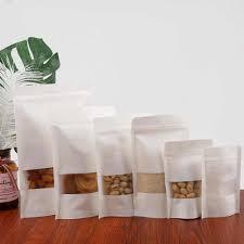 <b>10pcs Kraft</b> Paper Tea Bag Self Sealing Bag Coffee Seeds Sweets ...