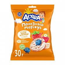 <b>Агуша Хлебцы мини</b> рисовые с ягодным соком 30 г - Акушерство ...