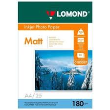 «<b>Фотобумага Lomond A4 180г / м2</b> 25л.,матовая (0102037 ...
