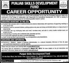 job opportunities in punjab skills development fund