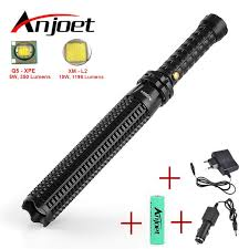 Sets Powerful led Zoomable flashlight XML <b>Q5</b>/<b>L2 Telescopic</b> baton ...