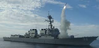Resultado de imagem para EUA lançam dezenas de mísseis contra a Síria em resposta a ataque químico