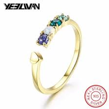 Shop <b>Fashion</b> Austria Color Crystal Wedding Rings for <b>Women 925</b> ...