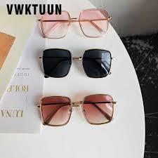 <b>VWKTUUN</b> Oversized Retro Round <b>Sunglasses Women Brand</b> ...