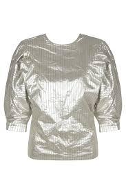 Блуза из хлопка <b>Isabel Marant</b> Блузы и рубашки <b>Серебристый</b> на ...