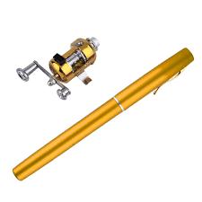 <b>Portable Pocket Telescopic Mini</b> Fishing Pole Aluminum Alloy Pen ...