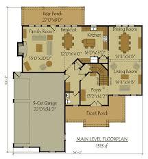 Two Story Bedroom Home Plan    car garageFloor Plans  car garage floor plan
