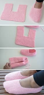 Super Easy <b>Slippers</b> to Crochet or to Knit | Tricot et crochet ...