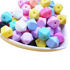 10pcs Star Heart <b>Letter Silicone Beads BPA Free</b> 12mm Cube ...