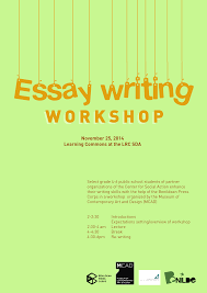 essay writing workshop nov mcad manila we re holding an essay writing workshop on 25 2014 it s always fun being around young minds for updates on our activities and programs