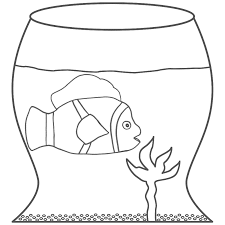 clip art fish bowl coloring pages printable clip art fish bowl coloring pages fish bowl coloring page printable az pages clown in a