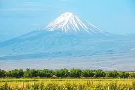 Арарат гора и поле   Премиум Фото